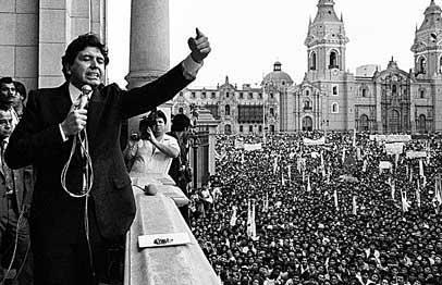 Alan García Pérez en su primer gobierno