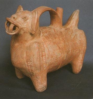 cultura lima ceramica felino