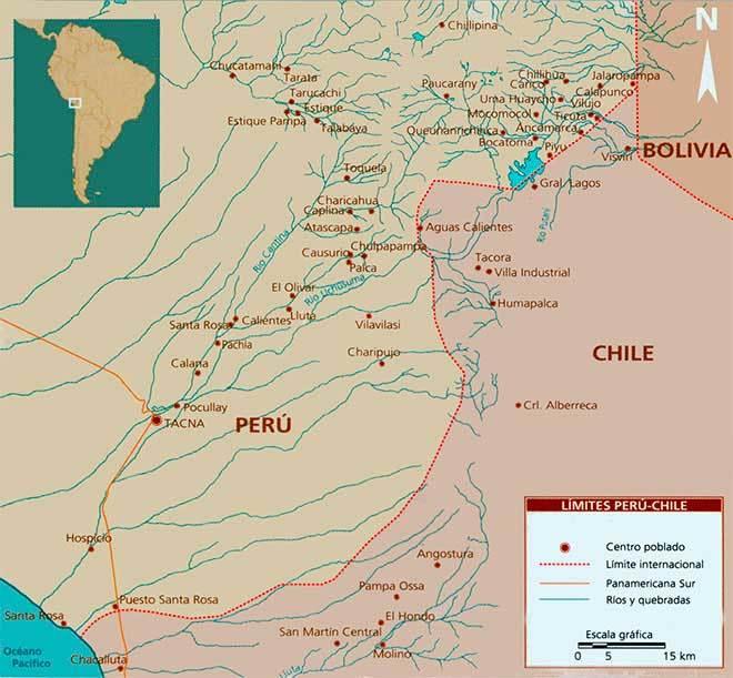 mapa frontera peru chile