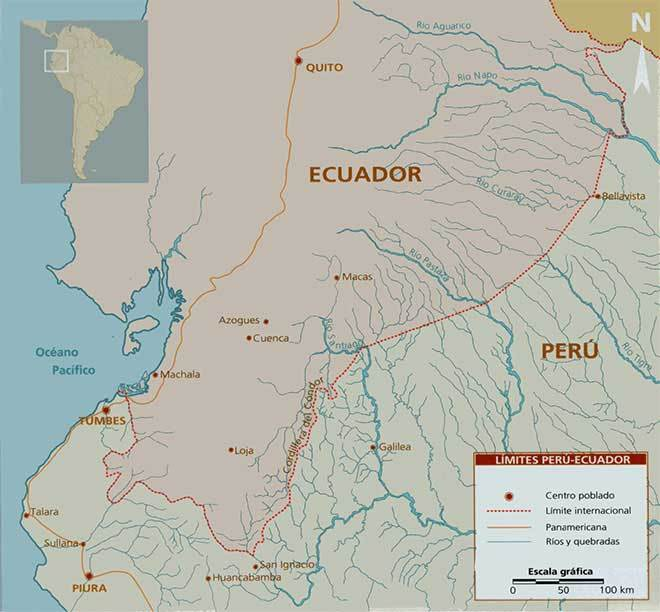 mapa frontera peru ecuador