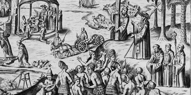 indigenas evangelizacion colonia