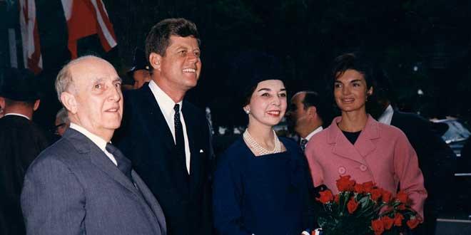 Manuel Prado y Ugarteche y el Presidente de EEUU Kennedy