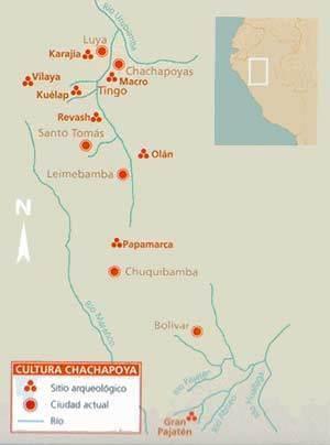 mapa cultura chachapoyas