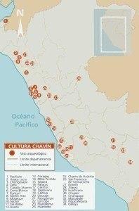 mapa cultura chavin