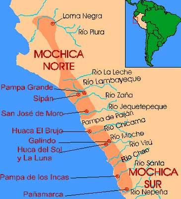 Mapa de la Cultura Mochica