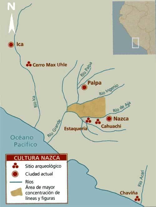 mapa cultura nazca