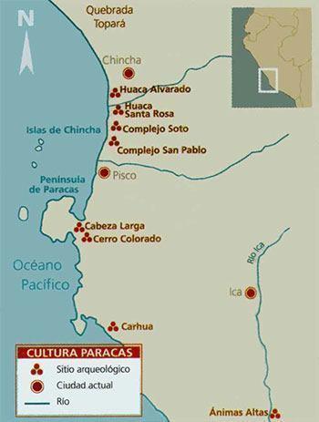 mapa cultura paracas