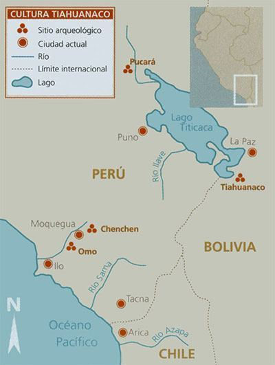 mapa cultura tiahuanaco