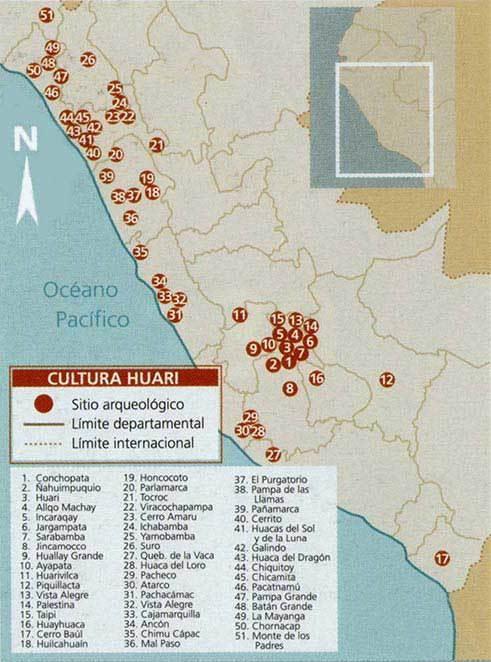 mapa cultura wari huari