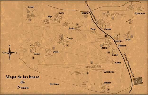 mapa lineas de nazca