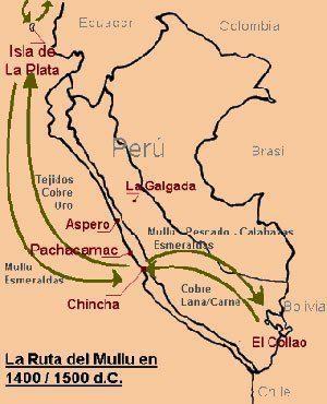 mapa comecio mullu o spondylus