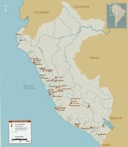 mapa primeros pobladores peru
