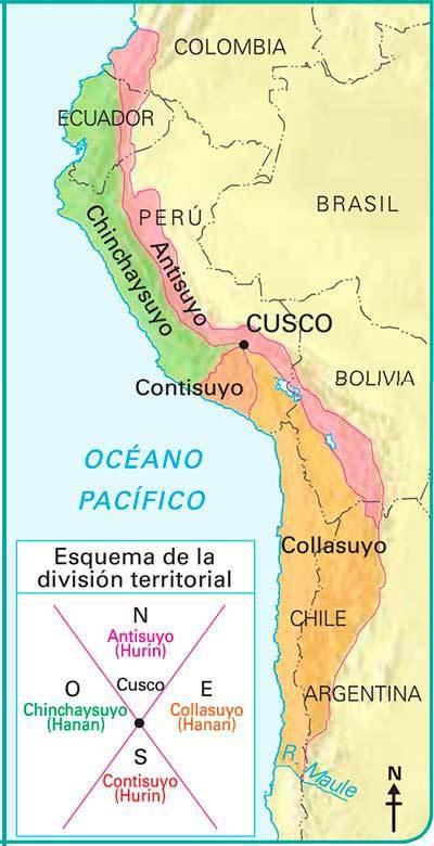 mapa tahuantinsuyo imperio inca
