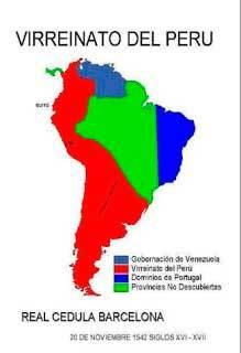 Mapa del Virreinato del Perú