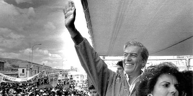 Mario Vargas Llosa como candidato a la presidencia del Perú