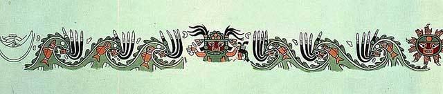 pintura restaurada huaca las ventanas cultura lambayeque