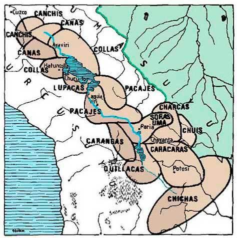 mapa reinos aymaras